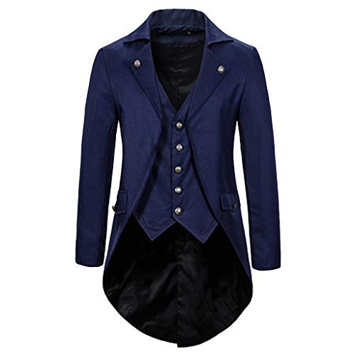 Vovotrade Herren Smokingjacken Gothic Jacke Smoking Kostüm Uniform Tuxed Costume Party Outwear -