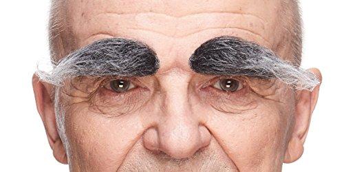 Erwachsenen Für Salz Kostüm - Mustaches Selbstklebende Neuheit Realistisch Fälscher Augenbrauen für Erwachsene Salz und Pfeffer Farbe