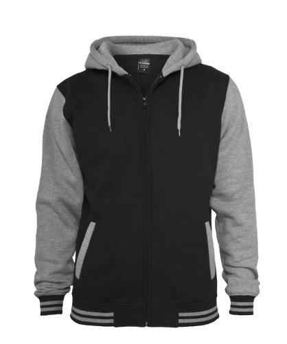 Urban Classics Herren Jacke Bekleidung Zip Hoody Black-Grey