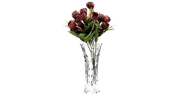 bouquet piante Saidan SD Vaso in vetro a forma bombata e liscio ideale per la decorazione della casa fiori 28 cm