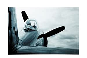 Kare Cadre 80x 120cm en verre Avion