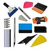 DEBBD Car Wrapping Tools Kit Vinile Raschietto in Feltro PRO Cutter Rasoio Rasoio per Finestra.