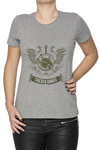 Winner Winner Chicken Dinner Women's T-Shirt Crew Neck Grey Tee Short Sleeves