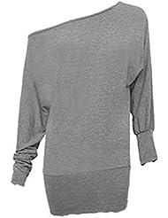 dames plus size vleermuismouwen volledige mouwen off shoulder top vrouwen casual slouch stretch top maat 16 tot 26