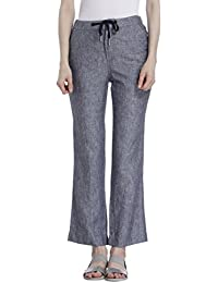 ONLY Women's Straight Fit Linen Pants