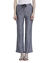 ONLY Womens Straight Fit Linen Pants (1835648006_Black_34)