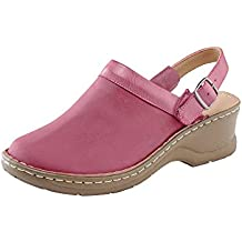 Cotton Traders Womens Ladies 2 in 1 Lightweight Clogs Sandals with Adjustable Strap