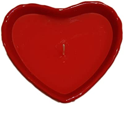 Ceramic Heart Shaped Cinnamon Scented Candle from West5Products