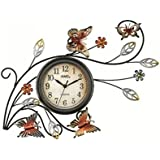 AMS w9446 cuarzo reloj de pared, metal, multicolor, 60 x 60 x 8 cm