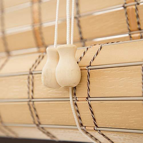 Bambusrollo Premium-Rollläden Für Den Innen- Und Außenbereich, Rollläden In Khaki, Patio/Pavillon/Pergola/Carport-Sonnenschutz, 85cm / 105cm / 125cm / 145cm Breit (Size : 105×200cm)