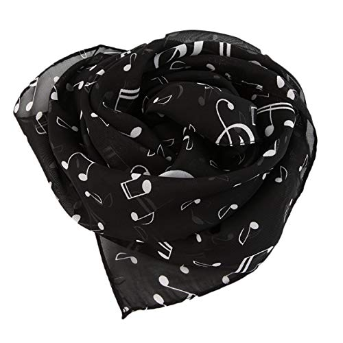 Mxeco nota musicale elegante sciarpe in chiffon sciarpa donna scialle stole lunghe silenziatore sciarpa comoda per esterno