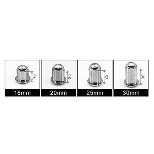 doutop Cam Lock für Tür Cabinet Mailbox Schublade Schrank Mailbox Schrank 17,5x 25mm + Schlüssel, 25mm Drawer lock