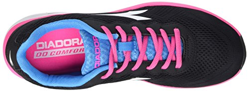 Diadora Swan, Gymnastique mixte adulte Multicolore - Multicolore (C4662 Nero/Rosa Fluo)