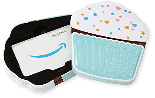Amazon.de Geschenkkarte in Geschenkbox (Cupcake)
