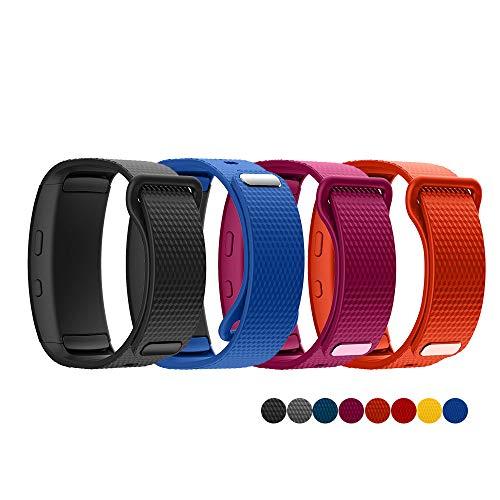 TOPsic Cinturino Samsung Gear Fit 2/Gear Fit 2 PRO Braccialetto, Cinturino di Ricambio in Silicone Braccialetto Cinturino per Gear Fit 2 PRO SM-R365/Gear Fit 2 SM-R360 Cinturino