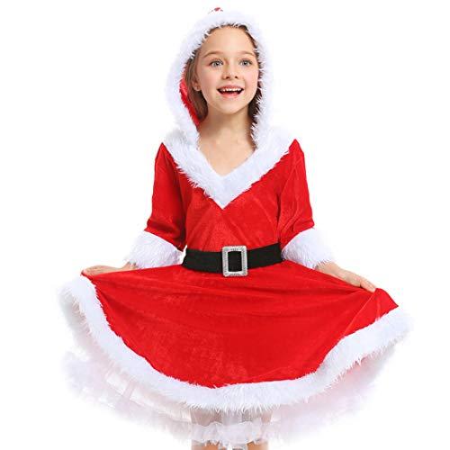 ZZTO Kind Frau Fräulein Weihnachten Santa Kostüm Outfit Claus Kostüm Frauen Santa Anzug - Mrs Claus Anzug Kostüm