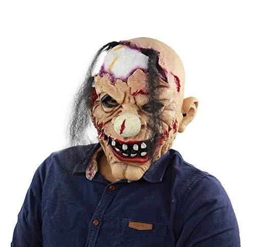 Sie Schwimmen Finden Durch Kostüm - Wsjfc Latex Maske für Halloween, Clown Maske, Horror Zombie Clown Kopfbedeckung, Streich Maske Gesicht Scary Halloween Kostüm Party, Bar, Maskerade