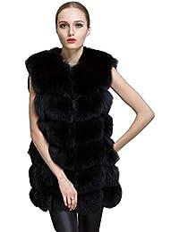 ae3b153465f8b ZEZKT Blousons Femme - Manteau sans Manche Gilets en Fausse Fourrure  Outwear Cardigan Élégant Chaud Veste