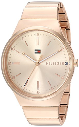 Tommy Hilfiger Women's 'Sophisticated Sport' Quartz and Stainless-Steel Casual Watch, Color:Rose Gold-Toned (Model: 1781799) image