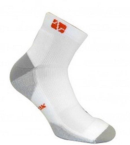 vitalsox Tennis Extra Polsterung drystat Kompression Knöchel Länge Socken vt0213t, damen Herren, weiß, M (Knöchel-länge-herren-socken)