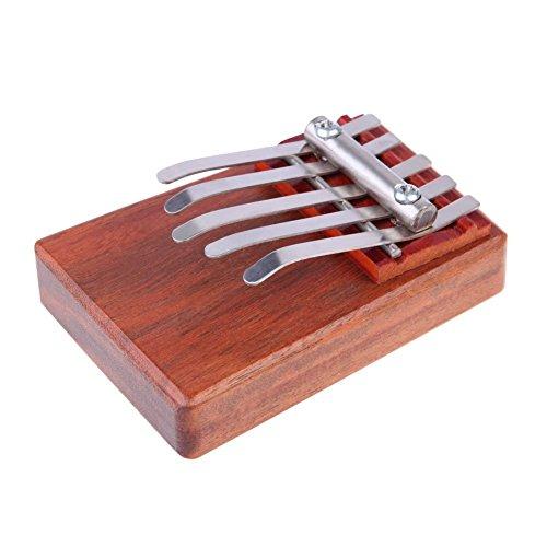 Daumenklavier - TOOGOO(R)5 Schluessel Kalimba Mbira Likembe Sanza Finger Daumenklavier Palisander Instrument Daumenklavier ist ein traditionelles Musikinstrument in Afrika. In verschiedenen afrikanischen Laendern, hat es unterschiedliche Namen. Der Klangkoerper ist die flexible Metallstreifen in unterschiedlicher Laenge, waehrend die Verwendung Holz oder Kuerbis als Resonanzkasten.