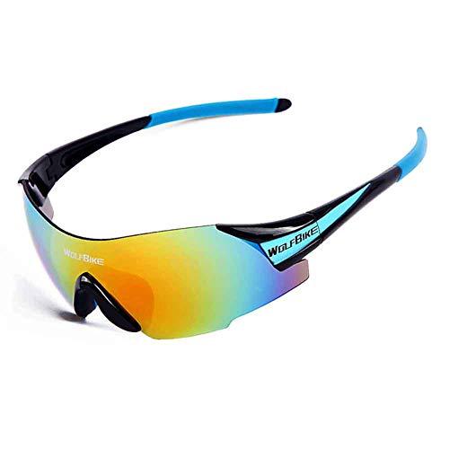 MTSBW Fahrrad Radfahren Brille Outdoor Sports Windschutzscheibe Reisen Jogging,Blue