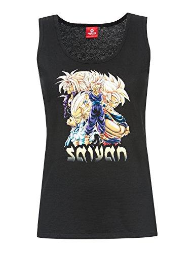 Dragon Ball Z Saiyajin Tank Top Damen Baumwolle schwarz Schwarz
