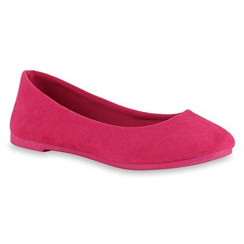 Klassische Damen Lack Ballerinas Schleifen Freizeit Flats Schuhe Pink