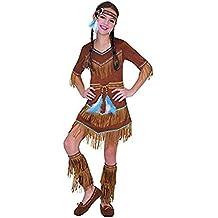 enfant indien rouge costume fille SQUAW Attrapeur De Rêves Pocahontas costume déguisement