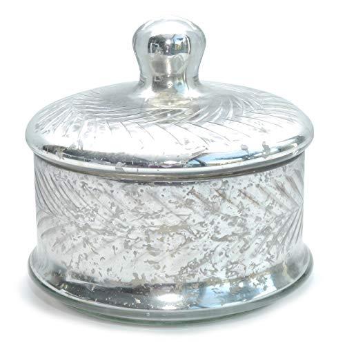 Bonboniere Glasdose mit Deckel Dose Silber antik Vintage Gebäckdose Plätzchendose Bauernsilber...