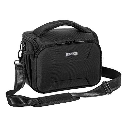 """PEDEA DSLR-Kameratasche \""""Guard\"""" Fototasche für Spiegelreflexkameras mit wasserdichtem Regenschutz, Tragegurt und Zubehörfächern, Gr. XL schwarz"""
