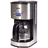 Igenix IG8250 Digital Filter Coffee Maker, 12 Cup Carafe, Automatic 24 Hour Timer and Keep Warm Function, Removable Funnel for Easy Cleaning, 1.5 Litre, Stainless Steel