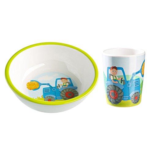 HABA Traktor 2er Set 302815 302819 Schüssel + Becher - Traktor-becher