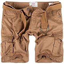 MERISH Hombre pantalones cortos Cargo Short con la correa con bolsillos en las piernas moderno y casual, perfecto para días de calor Modell J65
