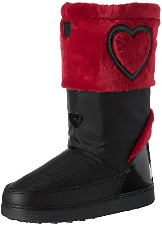 Love Moschino St.Ttod.yuky20 Nyl+Ver.Ne/Pell.Rsso, Botas de Nieve para Mujer