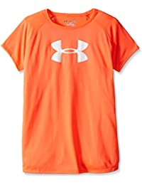 Under Armour Solid Big Logo Ss T-abn//Wht - T-Shirt de sport - Fille