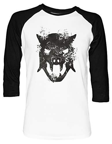 ball T-Shirt 2/3 Ärmel Herren Damen Weiß Schwarz ()