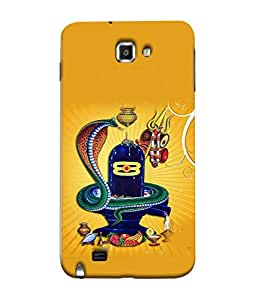 PrintVisa Designer Back Case Cover for Samsung Galaxy Note 1 (shiv ling with naag devta)