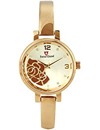 Swiss Grand SG-1177 Rose Gold Coloured With Rose Gold Stainless Steel Strap Analog Quartz Watch For Women