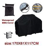 JYW-Covers Möbel Staubschutz Für Gartenmöbel Abdeckung, Draussen Schwarz Grillabdeckung, Wasserdicht/UV-Beständig,Black,170 * 61 * 117Cm