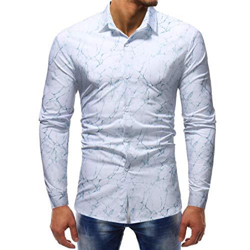 Herren CardiganShirt,TWBB Sweatshirt Casual Mehrere Drucke Autumn Winter Shirt Lange Ärmel Männer Oberteile V-Neck Schlank Hemd