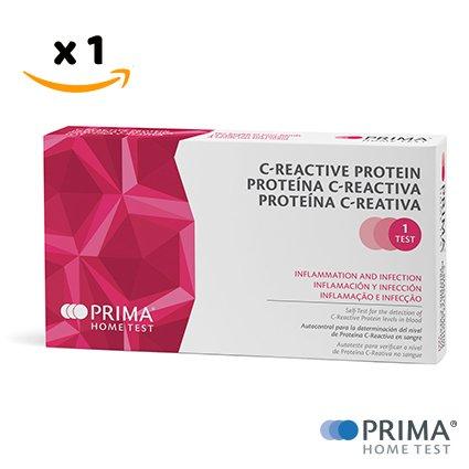 PRIMA Home Test - C-Reaktiver Proteintest (CRP) - Hohe oder niedrige Werte erkennen (Home-blut-test)