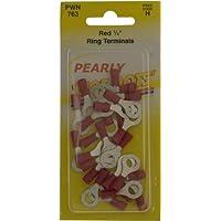 Pearl Pwn763Connecteurs de câble à bague–Rouge (lot de 25)
