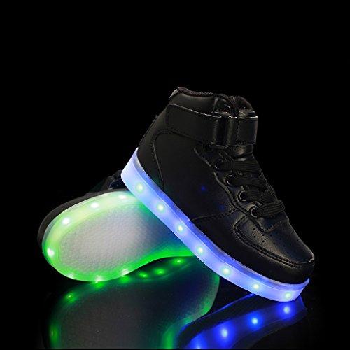 DoGeek Scarpe Led uomo Luminosi Sneakers Con Le Luci Accendono Scarpe Sportive Nero