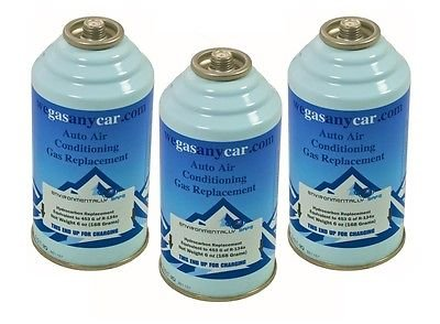 Car Aircon Air Con Air Conditioning Top Up Recharge Refill Regas Can x 3 DIY Gas Test