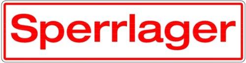 LEMAX® Schild Alu Sperrlager weiß/rot 150x600mm