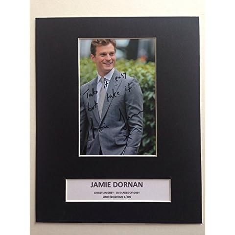 Edizione limitata Jamie Dornan 50Sfumature di grigio firmato Photo Display + Cert autografo stampato Edizione Limitata
