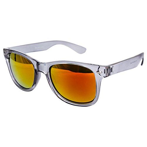 Ciffre EL-Sunprotect® Sonnenbrille Nerdbrille Brille Nerd Transparent Feuer Grau UV400