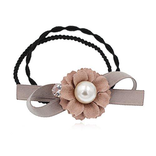 Anillo flor perlas de Corea del Sur/Secuencia trenza cuerda-A