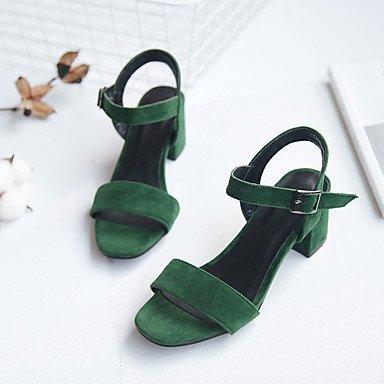 LvYuan Sandali-Formale-Altro-Quadrato-Finta pelle-Nero Verde Green